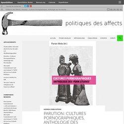 Parution : Cultures Pornographiques, Anthologie des Pornstudies