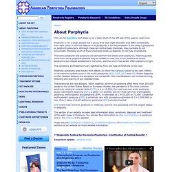 American Porphyria Foundation