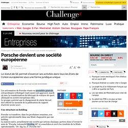 Porsche devient une société européenne