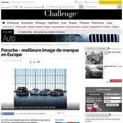 Porsche - meilleure image de marque en Europe - 18 septembre 2008