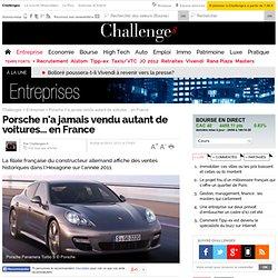 Porsche n'a jamais vendu autant de voitures... en France