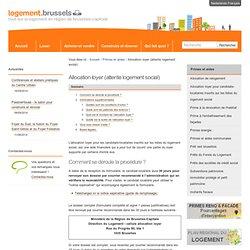 Allocation loyer (attente logement social) — Portail Logement - Portaalsite Huisvesting