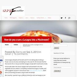 Portabella Lasagna