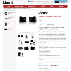 i.Sound Portable Power Max - 16000 mAh - Accessories - Shop By Type - iSound - The New Sound