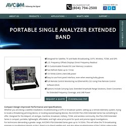 Portable Single Analyzer extended band - AVCOM