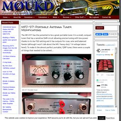 MFJ-971 Portable Antenna Tuner Modifications – M0UKD – Amateur Radio Blog