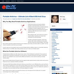 Portable Antivirus – Ultimate List of Best USB Anti Virus