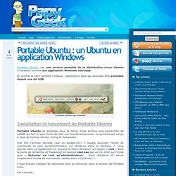 PORTABLE UBUNTU : UN UBUNTU EN APPLICATION WINDOWS