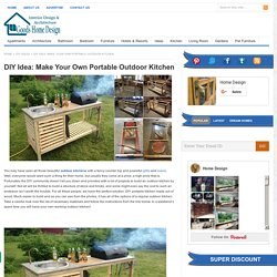 DIY Idea: Make Your Own Portable Outdoor Kitchen