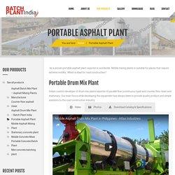 Portable Asphalt Plant manufacturer - Mobile Asphalt Plant