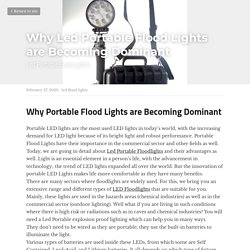 Why Led Portable Flood Lights are Becoming Dominant - led flood lights