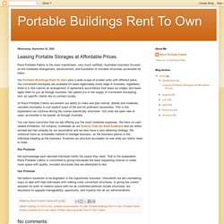 Leasing Portable Storages at Affordable Prices