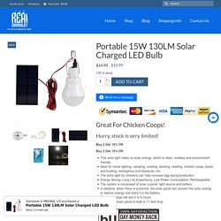 Portable 15W 130LM Solar Charged LED Bulb – The Real Survivalist