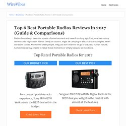 Top 6 Best Portable Radios Reviews in 2017 (Guide & Comparisons)