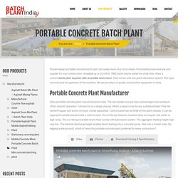 Batch Mix Plants Supplier