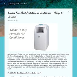 Buying Your First Portable Air Conditioner Things to consider