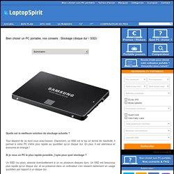 Bien choisir un PC portable, nos conseils : Stockage (disque dur / SSD)