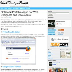 32 Useful Portable Apps For Web Designers and Developers