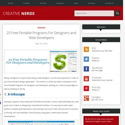 25 Free Portable Programs For Designers and Web Developers | Cre