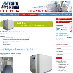 Best portable skid display fridge or freezer hire