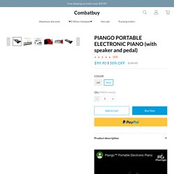 PIANGO PORTABLE ELECTRONIC PIANO (with speaker and pedal)