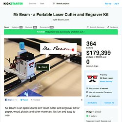Mr Beam - a Portable Laser Cutter and Engraver Kit by Mr Beam Lasers
