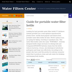 Guide for portable water filter bottle