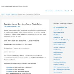 Portable Java – Run Java from a Flash Drive