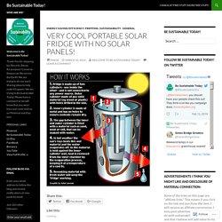 Very Cool Portable Solar Fridge with No Solar Panels!