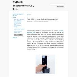 THL270 portable hardness tester - TMTeck Instruments Co., Ltd.