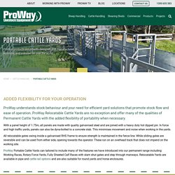 Mobile, Portable Cattle Yards, ProWay Livestock Equipment