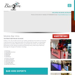 Portable bars for hire at very attractive rates