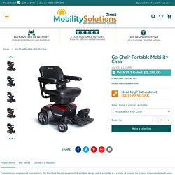 Go Chair Portable Mobility Chair By Pride Mobility – Mobility Solutions Direct 2018