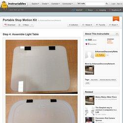 Portable Stop Motion Kit : Assemble Light Table