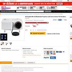 60 Portable Mini HD Multimedia Projecteur LED Home Cinéma Thé?tre Blanc