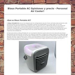 Blaux Portable AC Precio