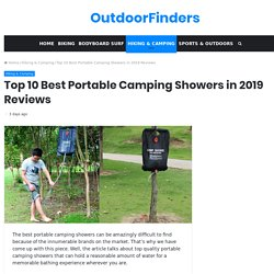 Top 10 Best Portable Camping Showers in 2019 Reviews - OutdoorFinders