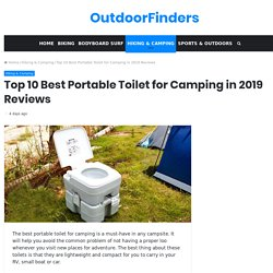 Top 10 Best Portable Toilet for Camping in 2019 Reviews - OutdoorFinders