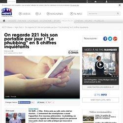 """On regarde 221 fois son portable par jour ! """"Le phubbing"""" en 5 chiffres inquiétants - High-Tech"""