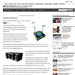 Portable 3D Printer