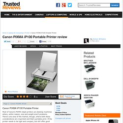 Canon PIXMA iP100 Portable Printer review - Printer