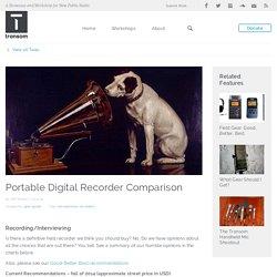 Portable Digital Recorder Comparison