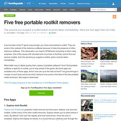 Five free portable rootkit removers