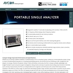 Portable Single Analyzer - AVCOM