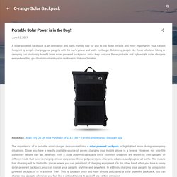 Portable Solar Power is in the Bag!