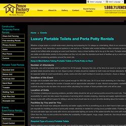 Luxury Portable Toilets Rental & Porta Potty Rentals