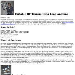 Portable HF Transmitting Loop Antenna