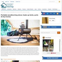 Portable woodburning stove, heats up tents, yurts & tiny homes
