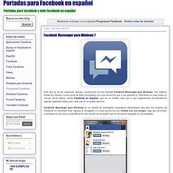 Facebook en español: Programas Facebook