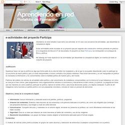 Portafolio de Formación: e-actividades del proyecto Participa